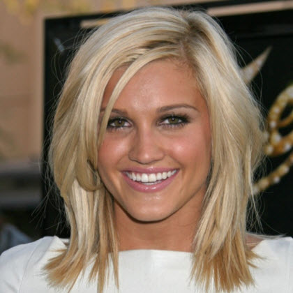 Medium Length Layered Blonde Hair Parker CO