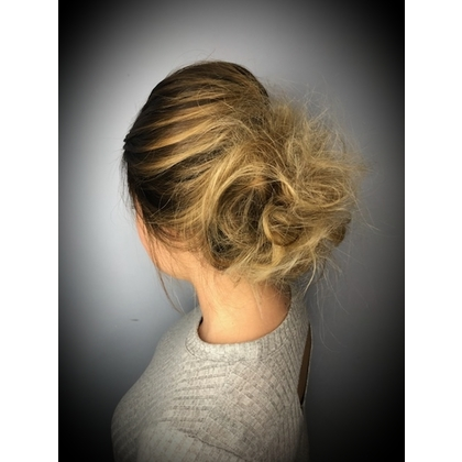 Blonde Updo Side View